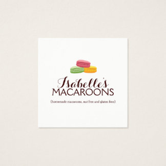 Whimsical Macaroons Square Bakery Business Card