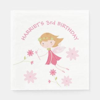 Whimsical Magical Fairy Birthday Paper Napkin
