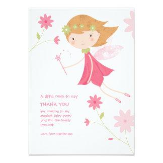 Whimsical Magical Fairy Birthday Thank You Card