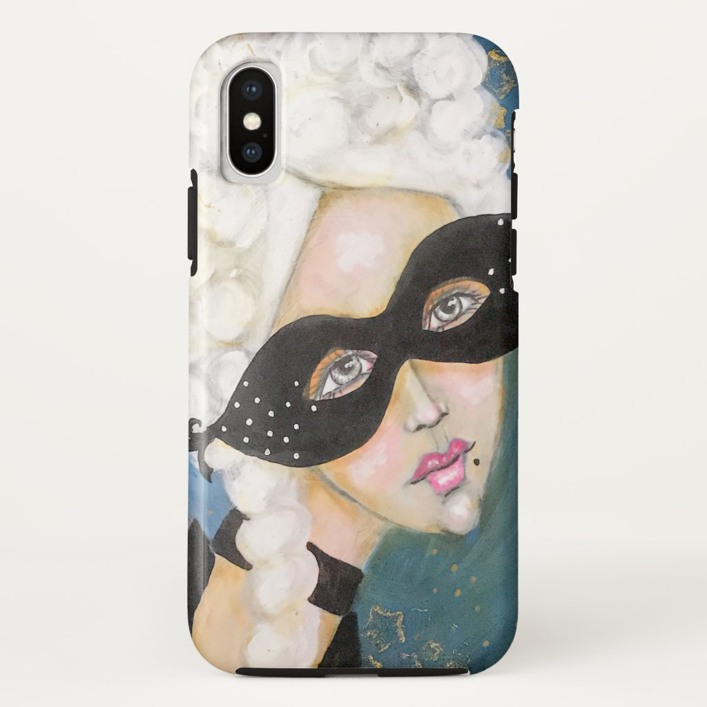 Whimsical Marie Antoinette French Queen Stars Blue Case-Mate iPhone Case
