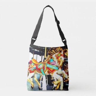 Whimsical Merry Go Round Carousel Horse Crossbody Bag