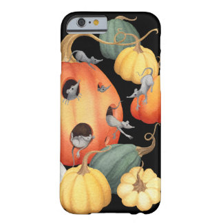 Whimsical Mice and Pumpkins Autumn Barely There iPhone 6 Case