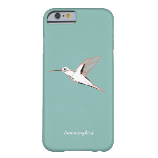 Whimsical Mint hummingbird elegant minimalist marr Barely There iPhone 6 Case