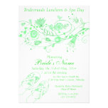 Whimsical Minty Green Bridesmaid Lunch & Spa 1 Personalised Invite