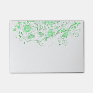 Whimsical Minty Green - Note Pad Post-it® Notes