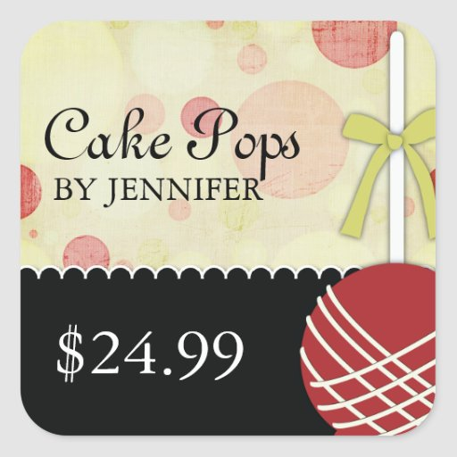 Whimsical Modern Bakery Price Tags Stickers