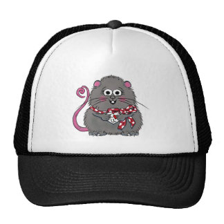 Whimsical Mouse I love you Valentine's Day Heart Cap