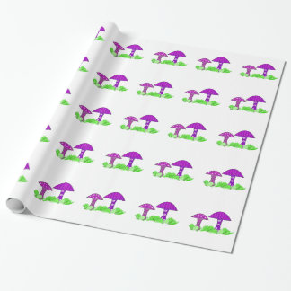 Whimsical Mushrooms Wrapping Paper