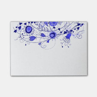 Whimsical Navy Blue - Post-It Note Pad