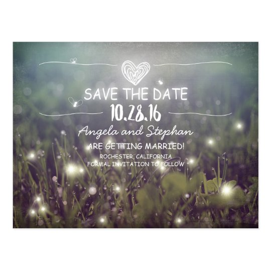 whimsical night lights save the date postcards
