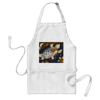 Whimsical Night Turtles Standard Apron