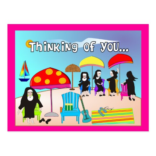 Whimsical Nun Art Gifts & Cards Postcards