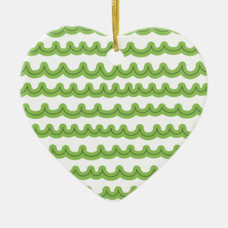 Whimsical Ocean Waves Green Christmas Ornament