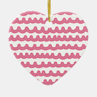 Whimsical Ocean Waves Pink Christmas Ornament