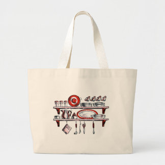 Whimsical Old Fashioned Kitchen Art Bag