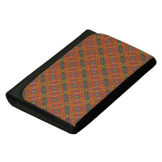 Whimsical Orange Floral Pattern Women's Wallets