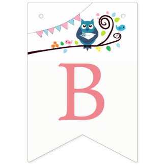 Whimsical Owl Baby Shower Bunting