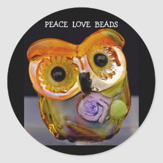 whimsical owl bead sticker