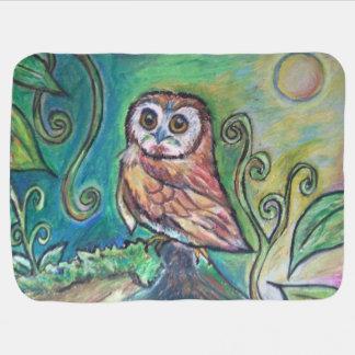 Whimsical Owl Blanket Pramblanket