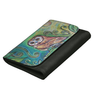 Whimsical Owl Faux Leather Wallet