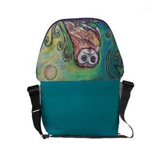 Whimsical Owl Messenger Bag