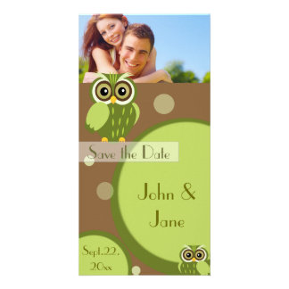 "Whimsical Owl  /photo  ""Save the Date"" Picture Card"