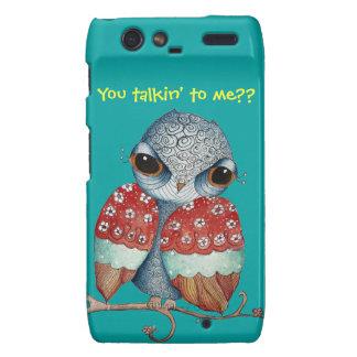 Whimsical Owl with Attitude Droid RAZR Case