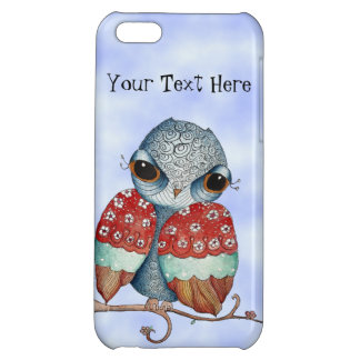 Whimsical Owl with Attitude Glossy iPhone 5 Case
