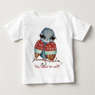 Whimsical Owl with Attitude Infant T-shirt