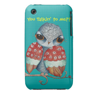 Whimsical Owl with Attitude iPhone 3/3GS Case iPhone 3 Covers