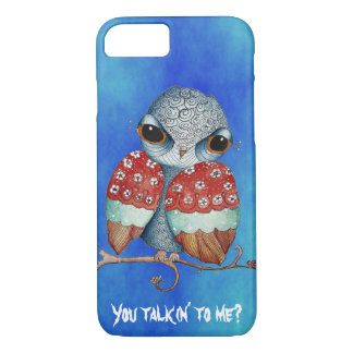 Whimsical Owl with Attitude iPhone 7 Case
