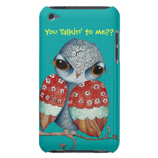 Whimsical Owl with Attitude iPod Case iPod Touch Cases