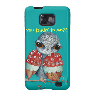 Whimsical Owl with Attitude Samsung Galaxy S2 Case