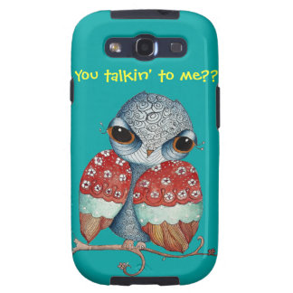Whimsical Owl with Attitude Samsung Galaxy S3 Case