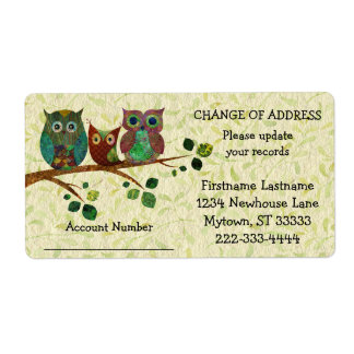 Whimsical Owls Update Your Records Address Label