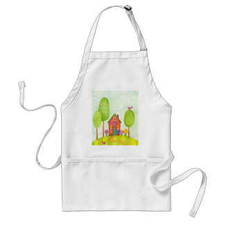 whimsical painting apron