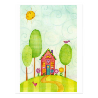 whimsical painting postcard