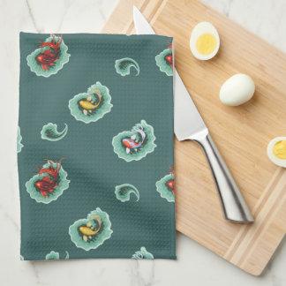 Whimsical Paisley Fish Design Tea Towel