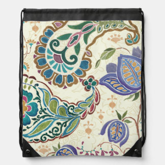Whimsical Peacock Drawstring Bag