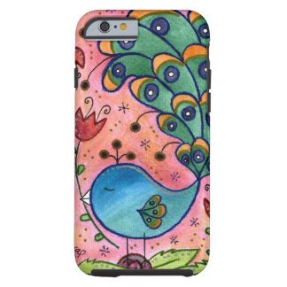 Whimsical Peacock iPhone 6 case