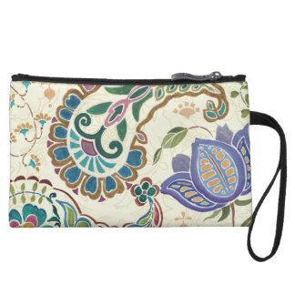 Whimsical Peacock Wristlet