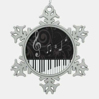 Whimsical Piano and musical notes Ornaments