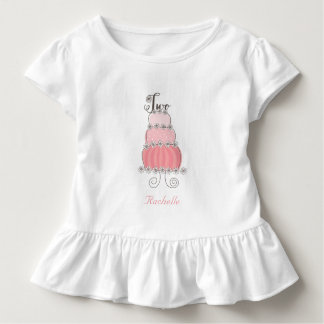 Whimsical Pink Cake Two Girl's 2nd Birthday Party Toddler T-Shirt