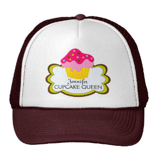 Whimsical Pink Cupcake Personalized Hat