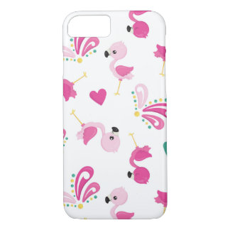 Whimsical Pink Flamingo Pattern iPhone 8/7 Case