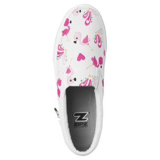 Whimsical Pink Flamingo Pattern Slip-On Shoes