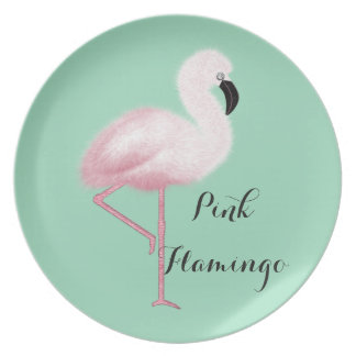 Whimsical Pink Flamingo Plate