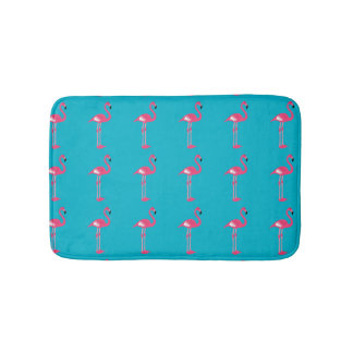 Whimsical Pink Flamingos Bath Mat Bath Mats