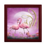 Whimsical Pink Flamingos Jewellery Gift Box