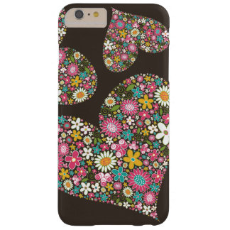 Whimsical Pink Spring Flowers Floral Hearts Casing Barely There iPhone 6 Plus Case
